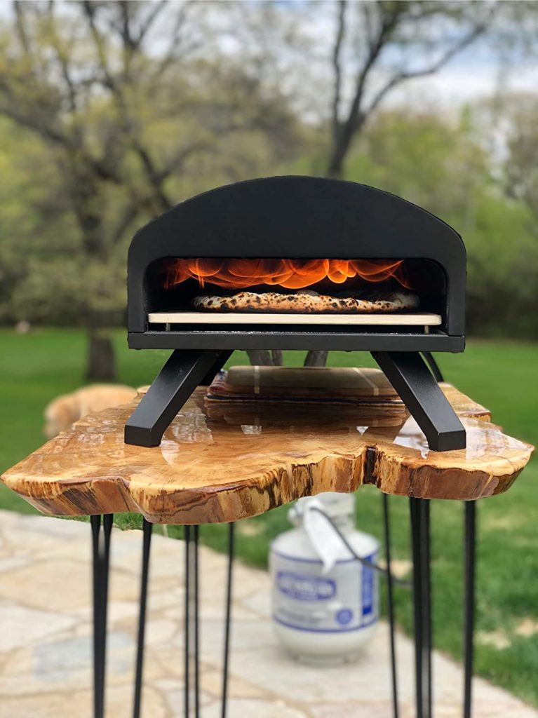 Bertello gas and also timber pizza oven